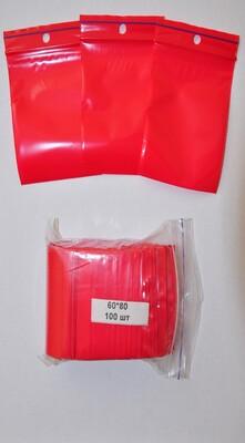 Пакет с замком zip-lock 60*80 (красный)